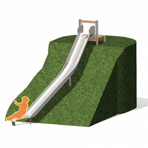 """Curved Slide, U-Shaped with Platform"" (Order-No.: 5.5055+5.4010-300-30)"