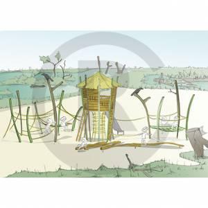 """""""Watchtower In Swamp"""" (Order-No.: 1.0020-161209-41)"""