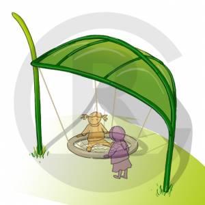 """Nest Swing Leaf"" (Order-No.: 6S-190430-10-G-A)"