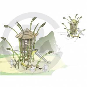 """Grass Cabin Martin"" (Order-No.: 8S-170613-41)"
