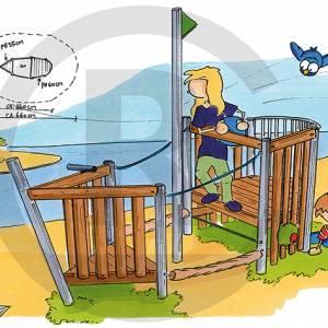 """Play Ship """"Pionier"""" (Order-No.: 2S-150202-43)"""