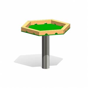 """Hexagon Mud Table"" (Order-No.: 3.3030-E)"