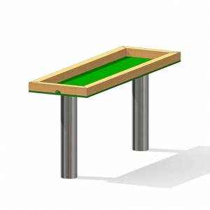 """Rectangular Mud Table"" (Order-No.: 3.3031-E)"