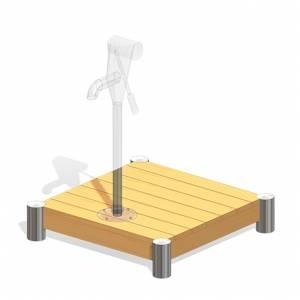 """""""Pump Platform, rectangular"""" (Order-No.: 3.3150-E)"""