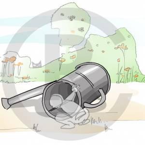 """Crawling tube """"Watering Pot"""" (Order-No.: 3S-160825-43)"""