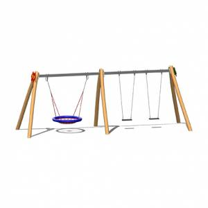 """""""Nest swing double swing combination Lucy"""" (Order-No.: 6.5140+6.5111-HWL)"""