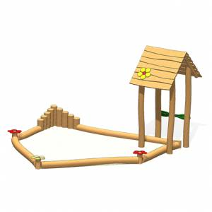 """""""Sand Box Lucy with Roof"""" (Order-No.: LP 1.0052)"""