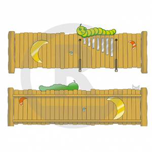 "Play Fence ""Moon-Caterpillar"" (Order-No.: 3S-160509-93)"