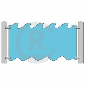 """Play wall """"Wave"""" (Order-No.: 3S-160721-55)"""