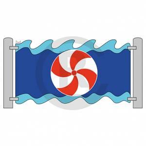 "Play wall ""Waterball, revolvable"" (Order-No.: 3S-160721-56)"