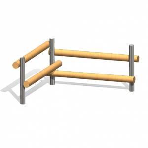 """""""Wooden Log Bench 2"""" (Order-No.: 4.0016-E)"""