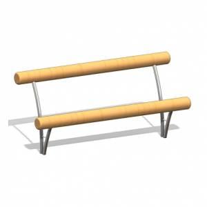 """Wooden Log Bench 3"" (Order-No.: 4.0020)"