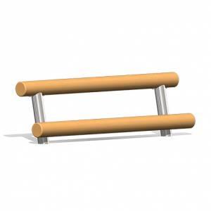 """""""Wooden Log Bench 4 """" (Order-No.: 4.0023-E)"""