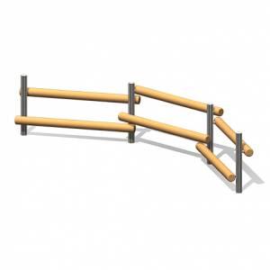 """""""Wooden Log Bench 5"""" (Order-No.: 4.0026-E)"""