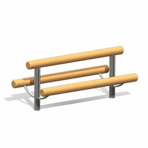 """""""Wooden Log Bench England"""" (Order-No.: 4.0028-E)"""