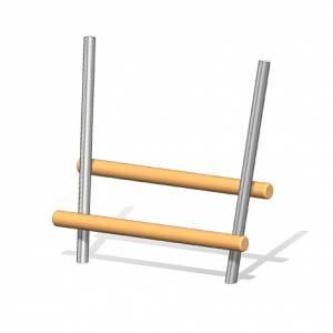 """""""Wooden Log Bench Braunschweig"""" (Order-No.: 4.0029-E)"""