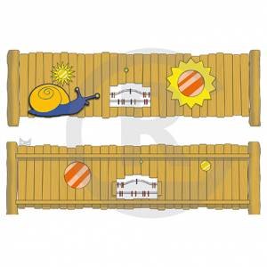 """Play Fence """"Sun-Snail"""" (Order-No.: 3S-160509-92)"""