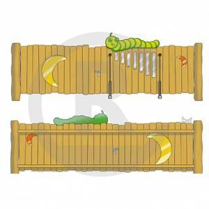 "Play Fence ""Moon-Caterpillar"" (Order-No.: 3S-160509-93)"