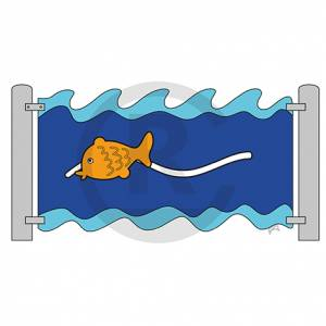 "Play wall ""Fish, slideable"" (Order-No.: 3S-160721-54)"