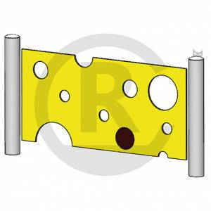 """Play wall """"Cheese Fence I"""" (Order-No.: 4S-160901-21)"""