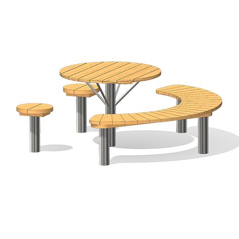 """""""Seating Arrangement, half-round"""" (Order-No.: 4.0075-E)"""