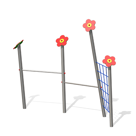 """""""Horizontal Bar Lucy, double with net"""" (Order-No.: LP 1.0255-E)"""
